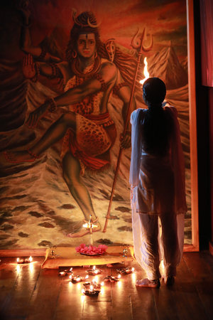Ayurveda Yoga Villa: Yoga room, Saturday´s chanting