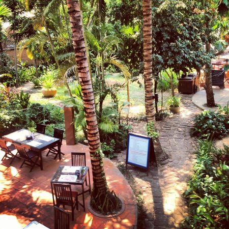 The River Garden Siem Reap: View over the restaurant!