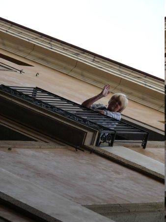 Hotel California: ons balkon(netje)