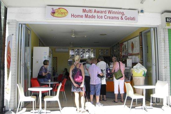 Gelateria Milano: shopfront at 82 Bulcock Street