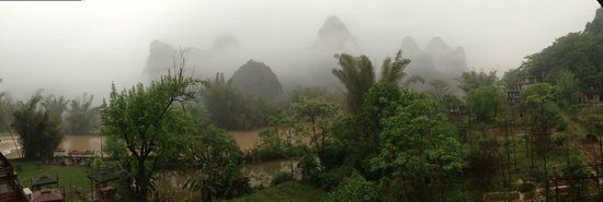 Moondance Boutique Resort: A misty morning view from the Balcony of room 305