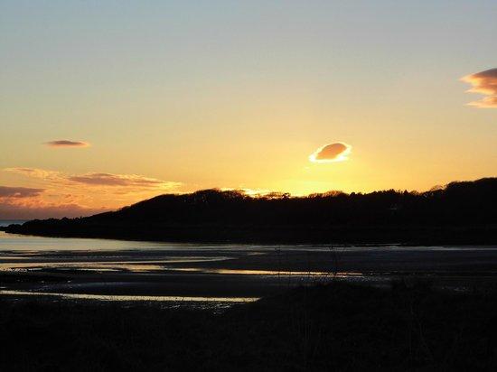 Kirkcudbright, UK: december sunset