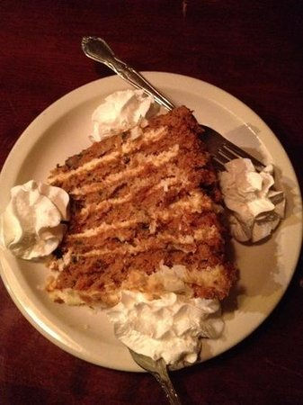Michigan Bar & Grill: The best carrot cake!