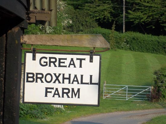 Great Broxhall Farm Bed and Breakfast: Approaching the farm