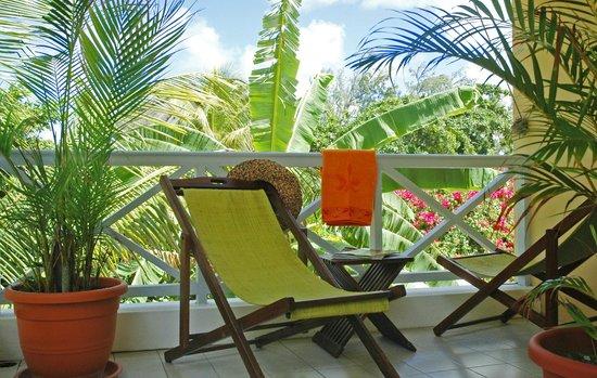 L'Oiseau du Paradis: Terrasse chambre confort