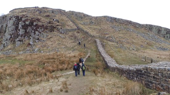 Hadrian's Wall: A lot of climbing uphill and going downhill. Proper attire and shoes is a must.