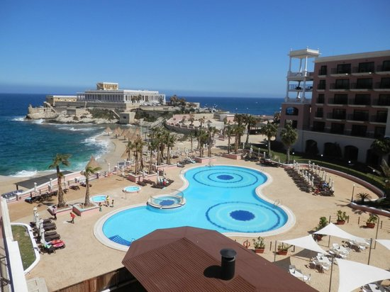 The Westin Dragonara Resort, Malta: View from north wing overlooking pool
