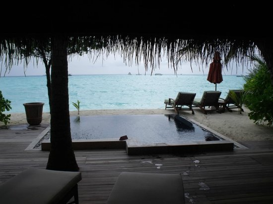 Taj Exotica Resort & Spa: view from room with pool