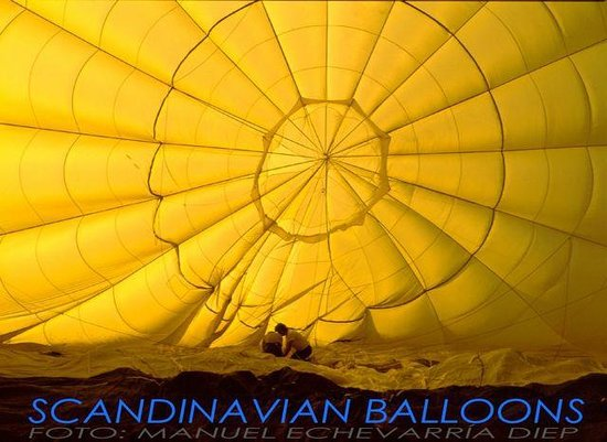 Scandinavian Balloons: Piicture inside of balloon while inflating