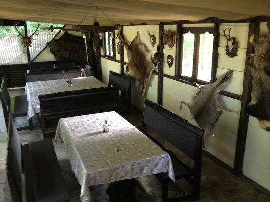 Hotel Caprioara: hunter's saloon