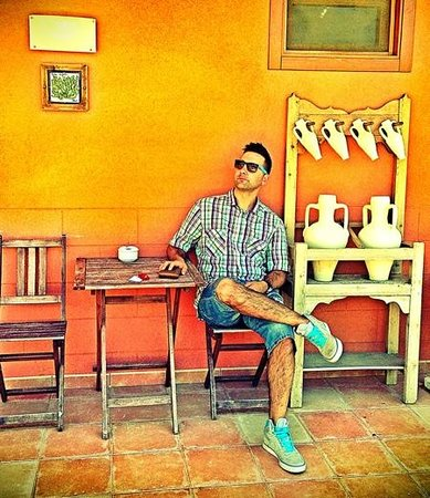 Llar La Morena: en la terraza