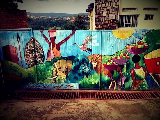 Kigali, رواندا: Entrance Gate, Inema Art Center, Kacyiru, Kigali