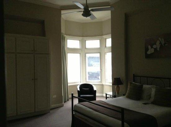Mansions on Pulteney: Bedroom window overlooking the street