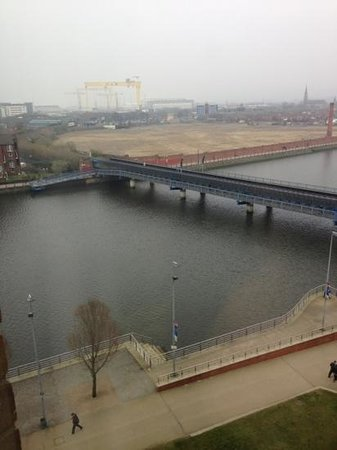 Hilton Belfast: view from River side bedroom