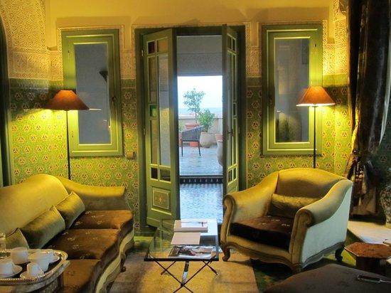 Travel Exploration Morocco Private Tours: Palais Faraj in Fes, our suite with terrace