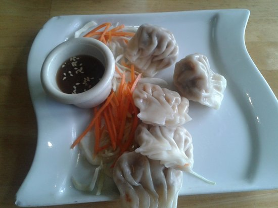 Loving Hut: steamed dumplings