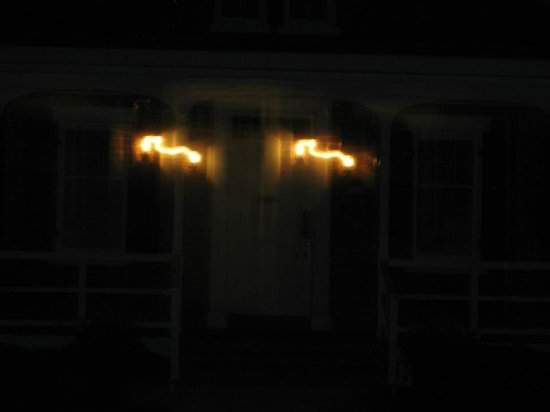 Ghost Walk of Saint Simons: Look closely under the light on the right side of the door, there's a man standing there!