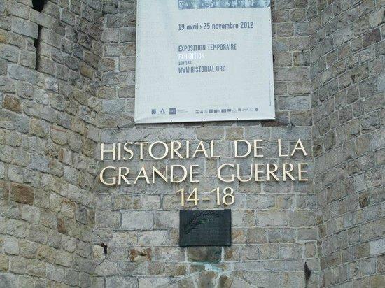 Historial de la Grande Guerre : Entrance
