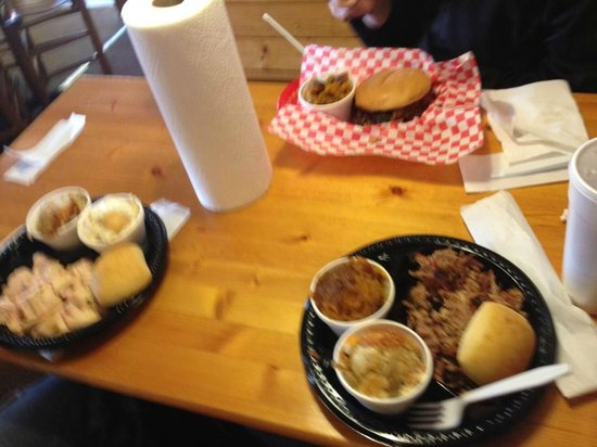 Our lunches at the Smokin' Pig