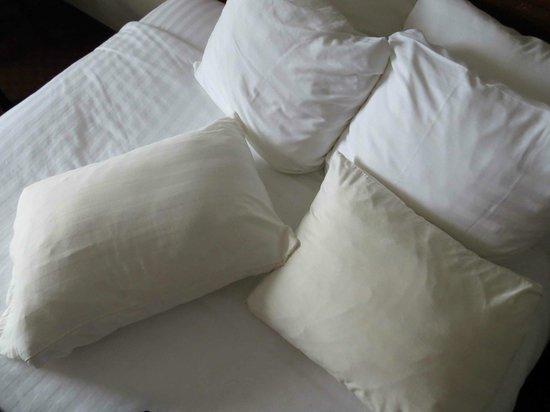 Best Western Airport Inn: Yellowed pillows. Not a big deal for me