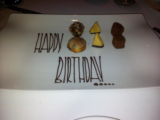 Northcote Hotel: Petit fours with birthday wishes....