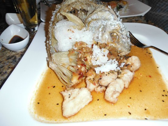 Villa del Palmar Cancun Beach Resort & Spa: Fish Curry at Japanese restaurant.....stright out of Iron Chef