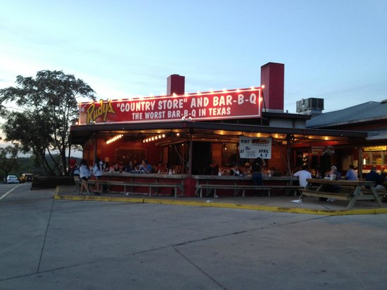 Rudy's Barbecue: View from the parking lot