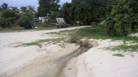 Sofitel Mauritius L'Imperial Resort & Spa: Les égouts se déverse directement sur la plage du Sofitel