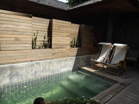 Tango Luxe Beach Villa: La piscine privée de la suite