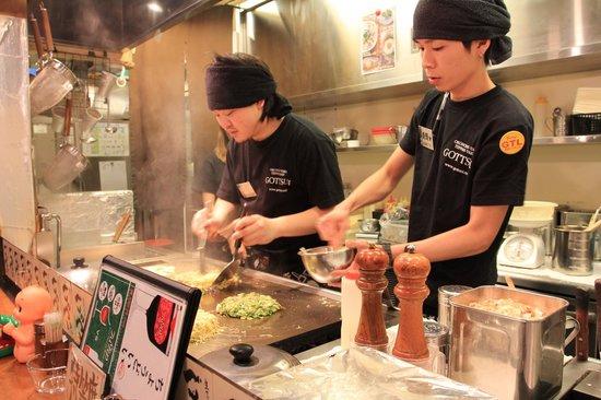 Okonomiyaki・Teppanyaki (Griddle cuisine) Gottsui Roppongi
