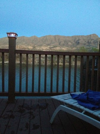 Riverbend Hot Springs: View of the Rio Grande at Sunset from Private Soak Tub