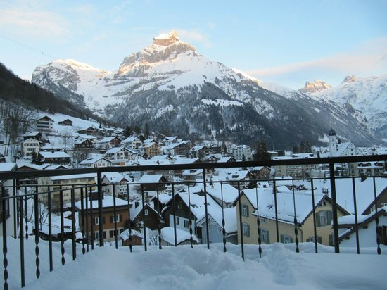 Edelweiss Engelberg : Mountain of the angels shine. From Balcony.