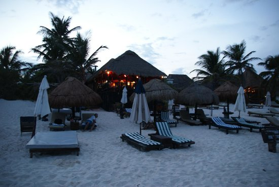 Om Tulum Hotel Cabanas and Beach Club: Twilight