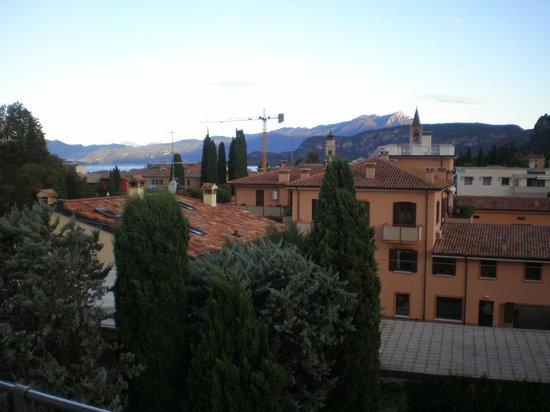 Hotel Idania: view to garda in distance