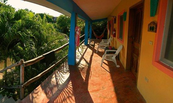 Village Tan Kah: Balcony outside Coconut and Tortuga.