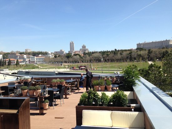 Terraza Picture Of Cafe Del Rio Madrid Tripadvisor