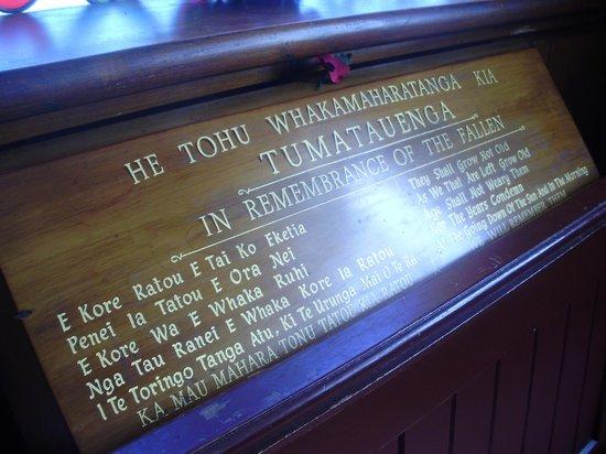 St. Faith's Anglican Church: Many Maori and English descriptions.