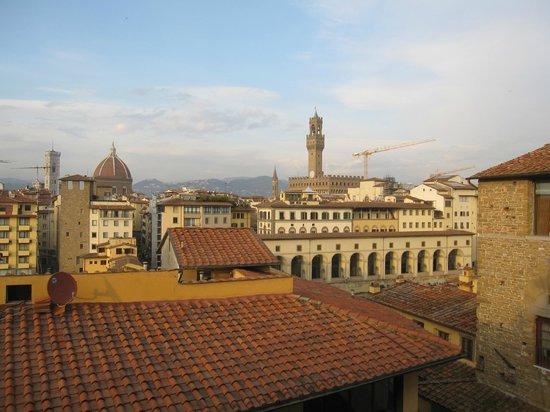 Pitti Palace al Ponte Vecchio: Zicht vanop het dakterras