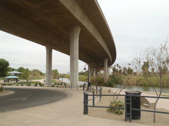 Yuma Crossing National Heritage Area: Below interstate