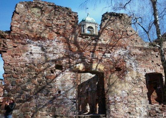 Clock Tower: Вот она Часовая башня, видна сквозь руины собора...