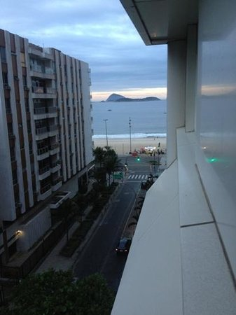 Ipanema Inn: the view leaning out my window on the 8th floor