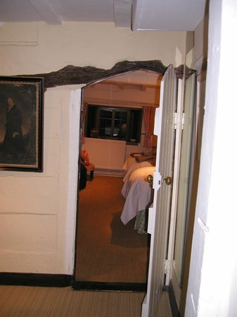 The Old Manor House: Original low doorway to the room I had - mind your head!