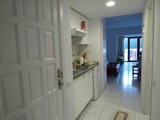 Erika Apartments: ingresso e cucina