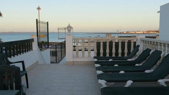 Erika Apartments: terrazza solarium sopra la reception