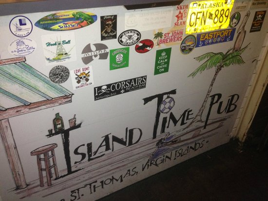 Island Time Pub: Wall inside ITP
