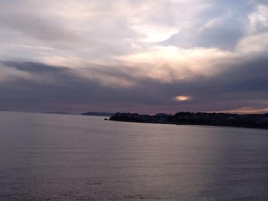 Hotel Split: 從我房間看出去的日落海景