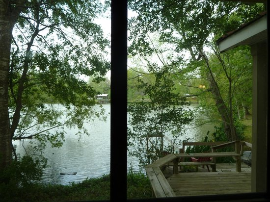 Cajun Country Cottages Bed and Breakfast: View from Magenta master bedroom