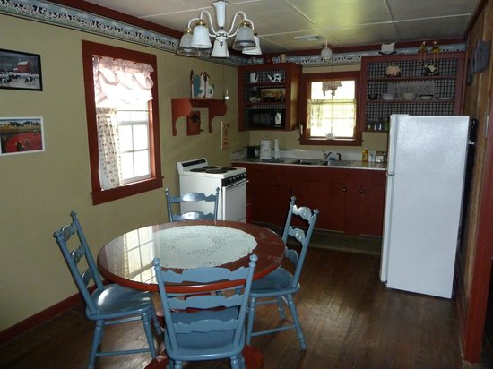 Cajun Country Cottages Bed and Breakfast : Magenta cottage kitchen