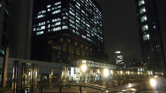 Shiodome at night