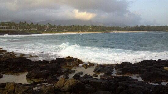 The Point at Poipu: Looking towards the Grand Hyatt.
